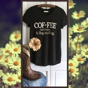 Maurices Black Coffee T Shirt Size XS